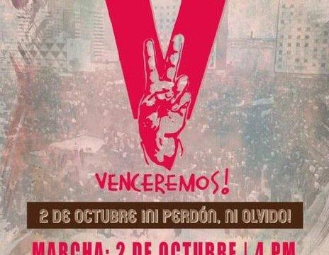 La agenda y la marcha por los 50 años del 68