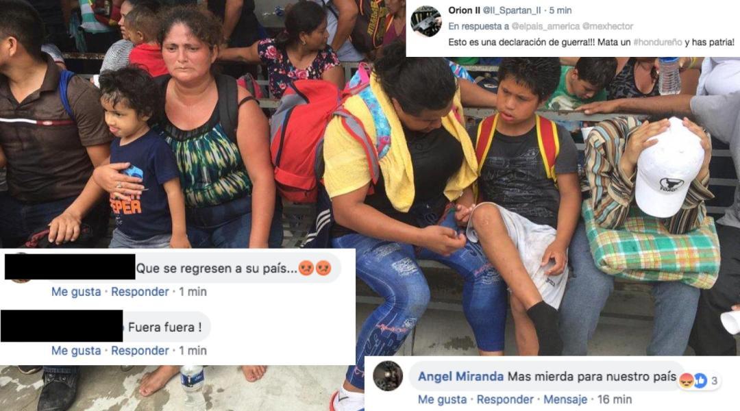 Reacciones de xenofobia y racismo por caravana migrante