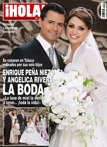 Portada de Hola con Peña Nieto y Angélica Rivera