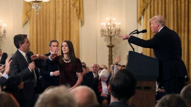 JK Rowling Jim Acosta Trump Casa Blanca Orwell