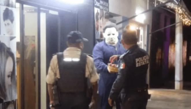 Policía en Mérida realiza operativo por asesino... resultó un disfraz