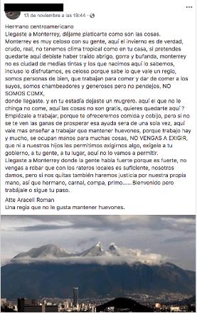 Xenofobia disfrazada de emprendedurismo, en Nuevo León