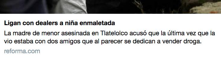 Ingrid Alison, Excélsior, Tlatelolco, Maleta, Revictimización