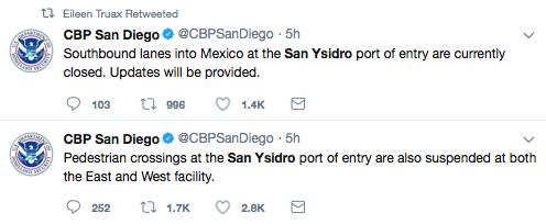 Mensajes de CBP San Diego tras manifestaciones en la garita