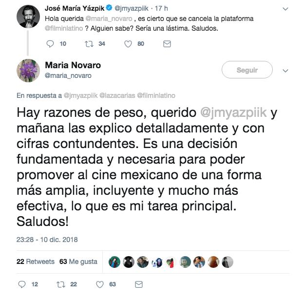 Salguero confirma el cierre de FilminLatino