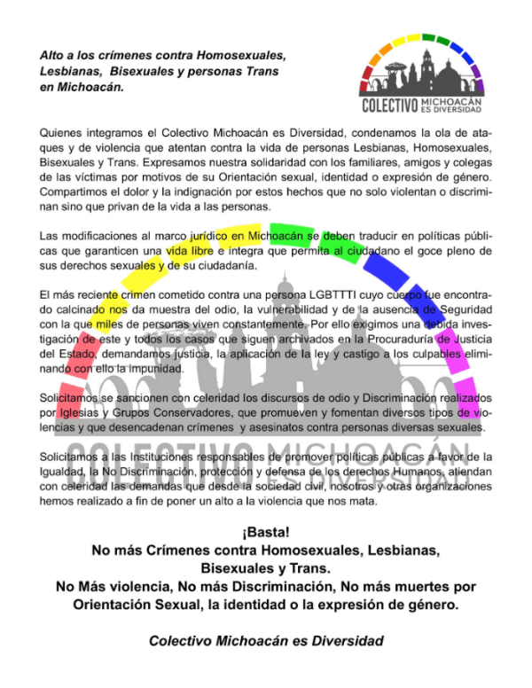 Asesinato, Homosexual, Crimen De Odio, LGBT, Morelia
