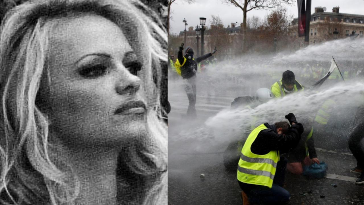 Pamela Anderson, Chalecos Amarillos, Francia