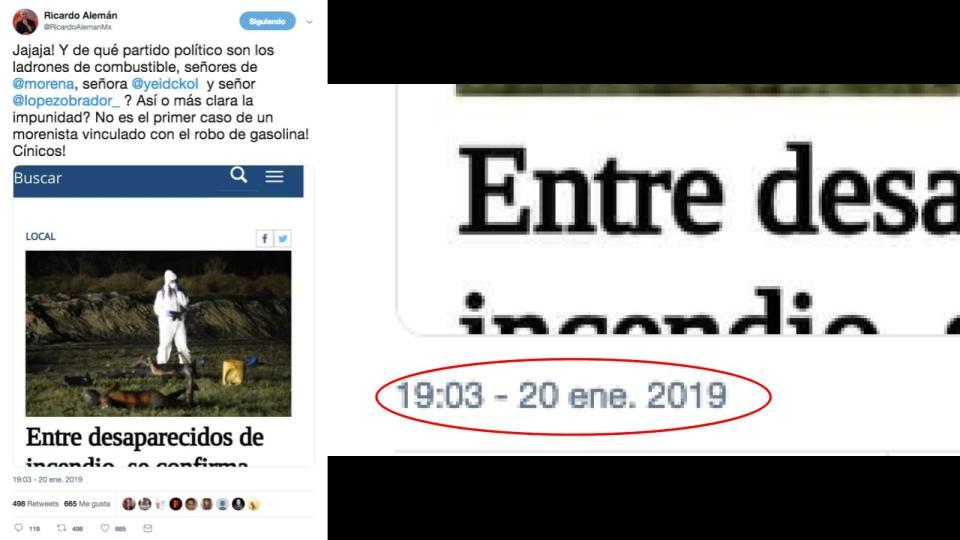 Ricardo Alemán publica tuit después del desmentido de El Sol de Hidalgo