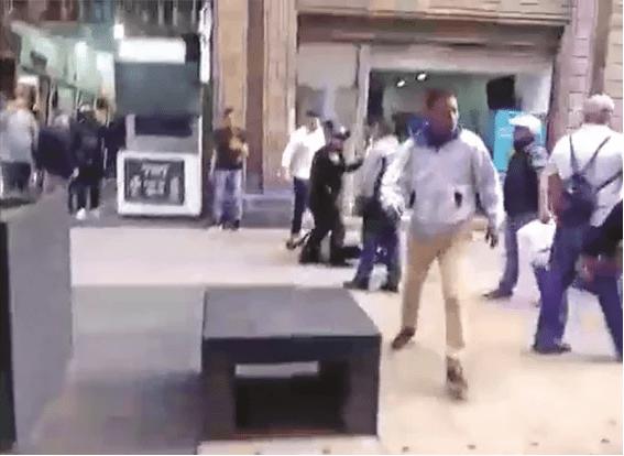Así se defienden locatarios de Madero contra extorsionadores