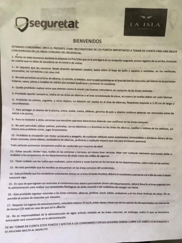 La Isla Residences, Acapulco, Discriminación, Nanas, Albercas