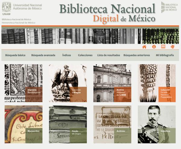 Página de la Biblioteca Nacional Digital de México