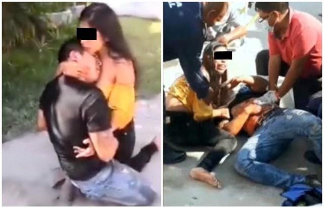 Liberan a mujer que apuñalo a su exposo en motel de Iguala