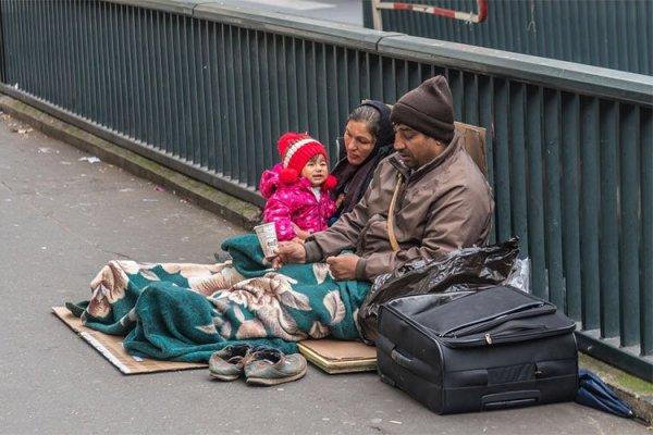 Familias sin hogar en San Francisco.
