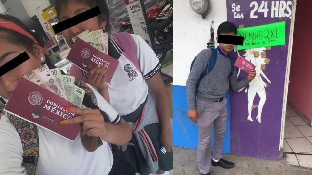 Polémica en redes por jóvenes gastando la beca de AMLO