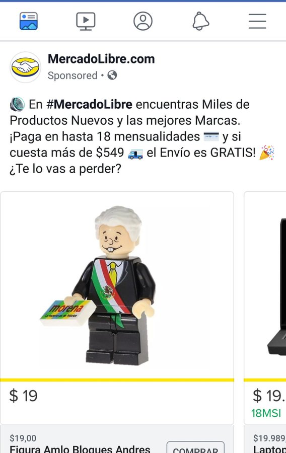 Amlo Lego, Figura Lego