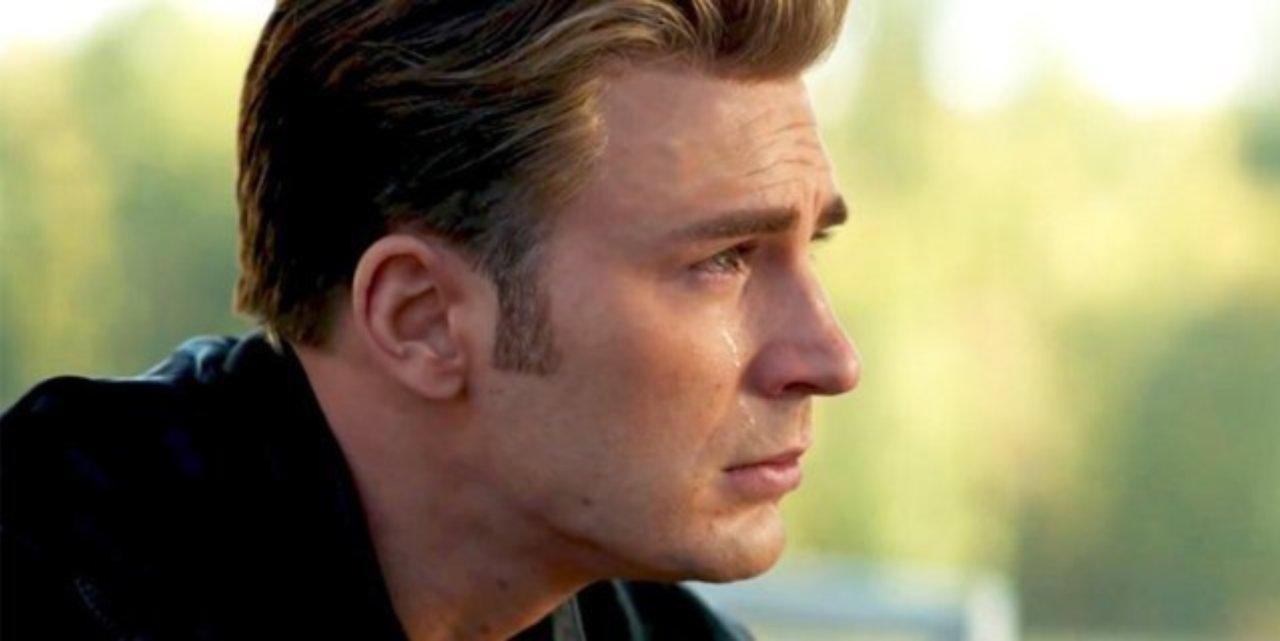 Capitán América llorando, en Avengers: Endgame