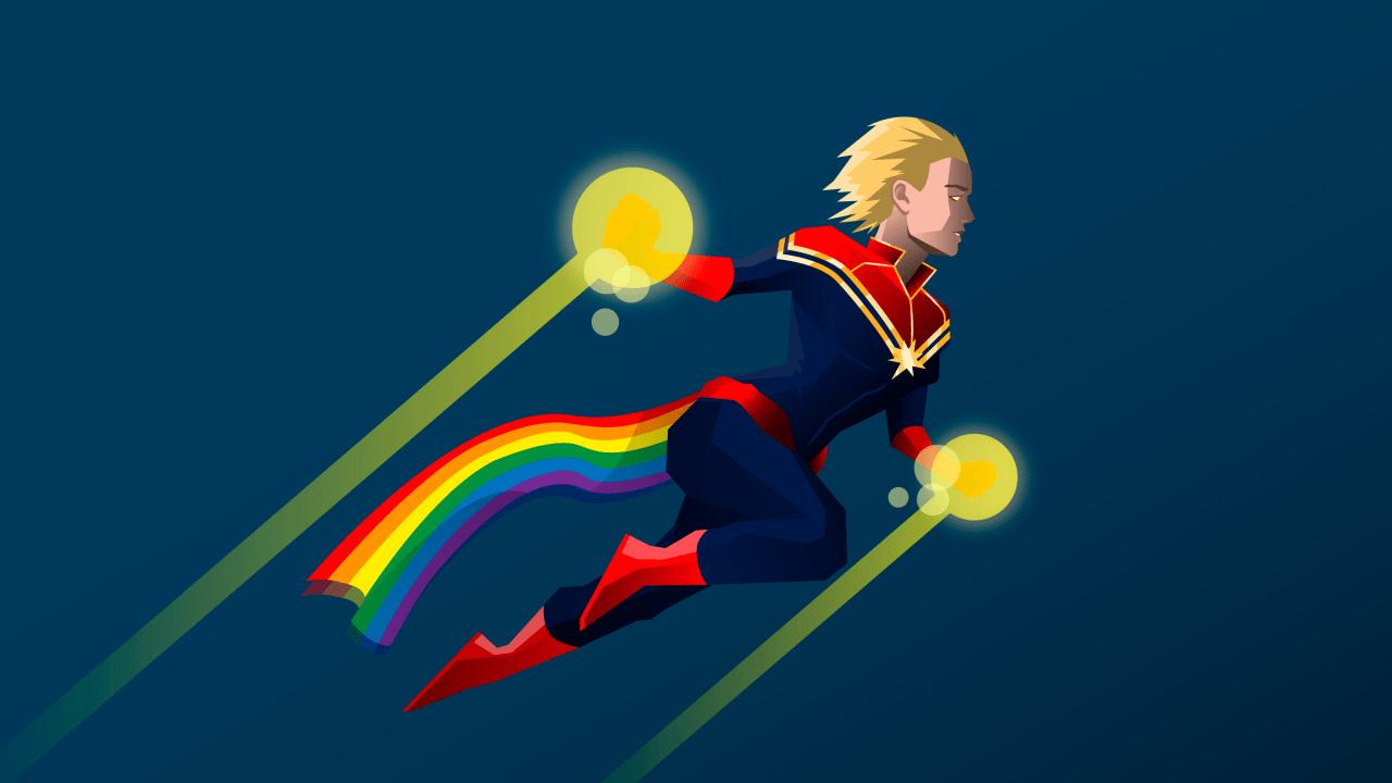 ¿Por qué la Capitana Marvel puede ser la representante LGBT+?