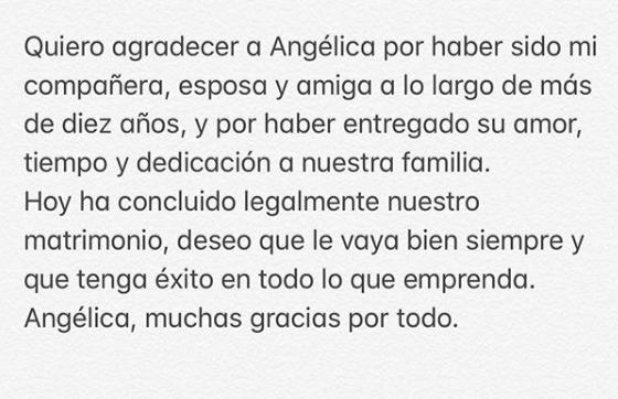Enrique Peña Nieto se separa de Angélica Rivera. Imagen:Instagram.