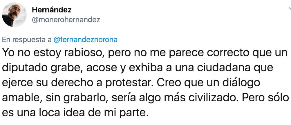 Respuesta del Monero Hernández a Noroña.