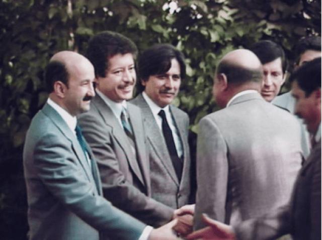 Robledo junto a Salinas y Luis Donaldo Colosio