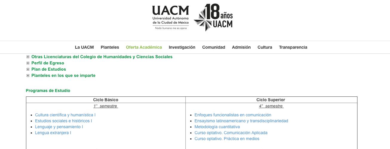 19 carreras de la UCM