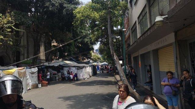 Desalojo de indígenas otomíes en la Juárez de CDMX