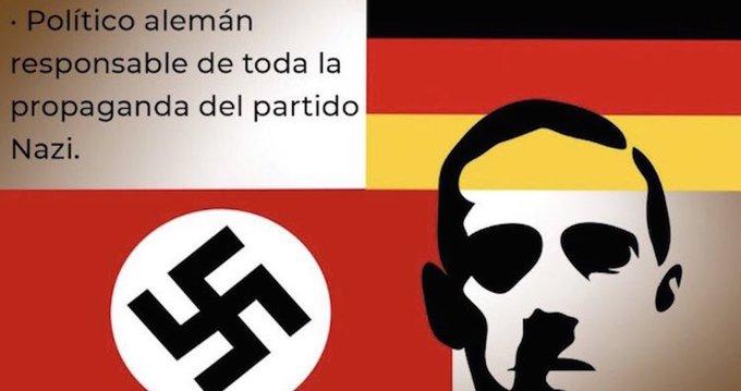 Encargado de redes de INJUVE es despedido por tuit sobre Goebbels con referencia nazi.