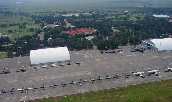 Fotografía aérea de instalaciones de Santa Lucía