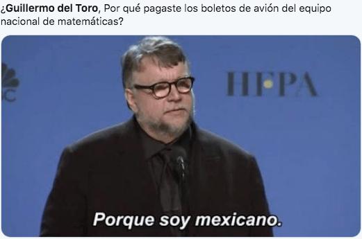 Guillermo del Toro se ofreció a pagar boletos a niños competidores de Olimpiada de Matemáticas.