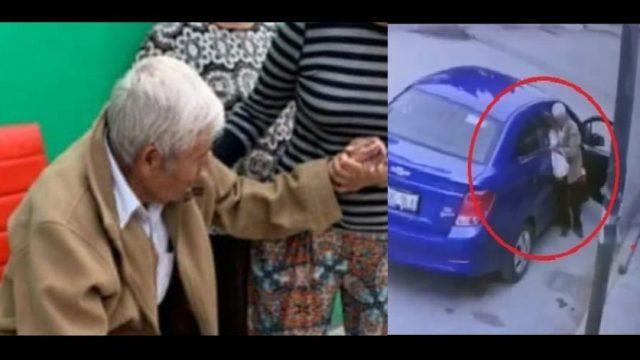 Abandonan a abuelito en las calles de Puebla