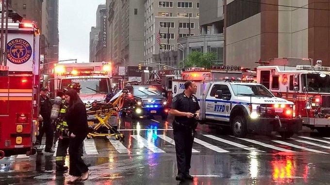 Manhattan helicóptero se estrella