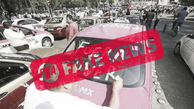 Falsa la foto de taxista escribiendo mal Uber