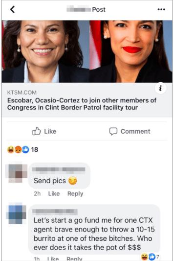 Patrulla Fronteriza hace comentarios racistas en grupo de FB