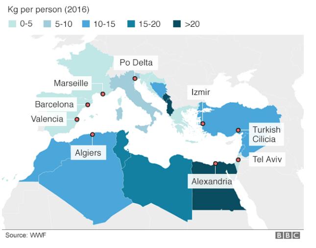 Encuentran basurero en el Mediterráneo