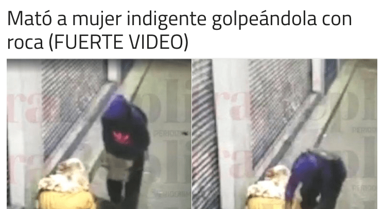 Reportajes sobre asesinatos de personas en situación de calle