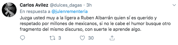 Rubén Albarrán causó polémica por su discurso en el Senado