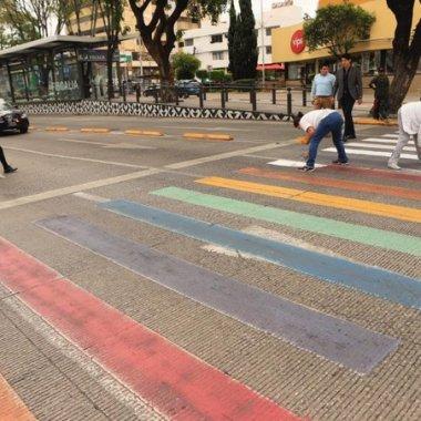 Grupo provida pintó un cruce peatonal porque son homofóbicos