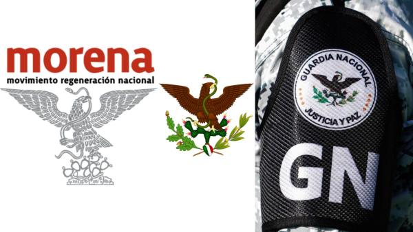 Águilas de Morena, la bandera juarista y la GN