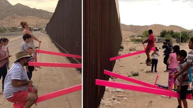 Colocan sube y baja en frontera