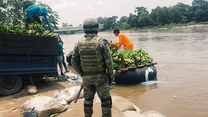 Guardia Nacional en la orilla del SuchiateGuardia Nacional en la orilla del Suchiate