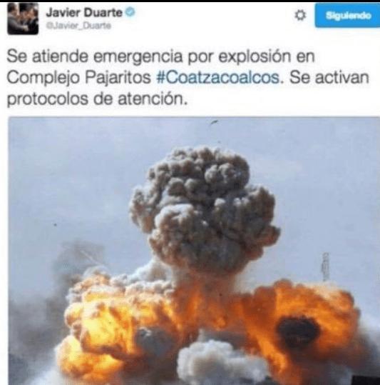 Javier Duarte comentó incidente en Coatzacoalcos y recibió comentarios negativos
