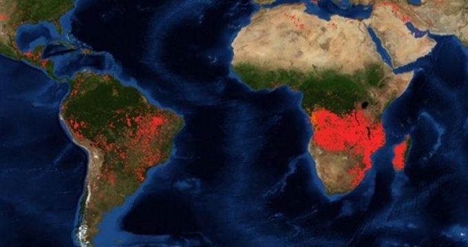 Africa también se esta incendiando no sólo el Amazonas