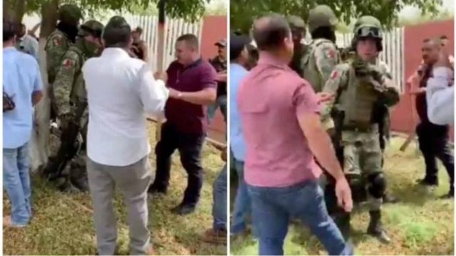 Pobladores de Los Reyes, Michoacán agreden a militares