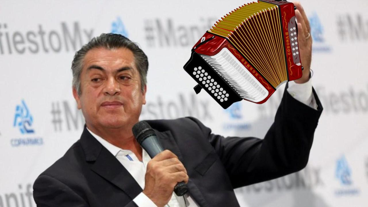 El Bronco quiere poner acordeón en escudo de Nuevo León