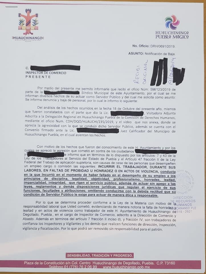 21/10/19, Agresión, Indígenas, Funcionarios, Puebla