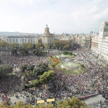 Grupos independentistas de Cataluña se manifestaron