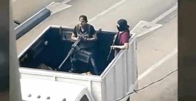 Usuarios suben a redes videos sobre la balacera en Culiacán