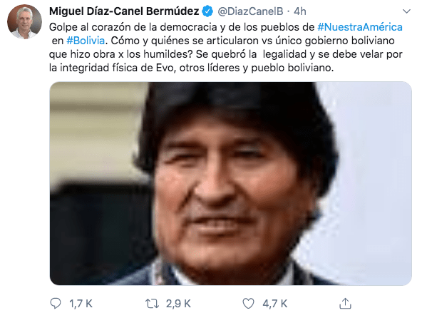 10/11/19 renuncia-Evo-Morales-reacción/ Miguel