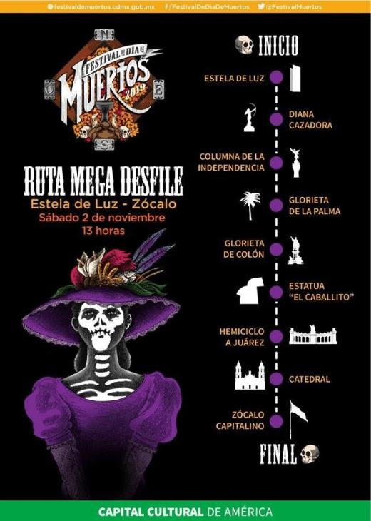 02/10/19, Día de Muertos, Mega Desfile, 2019, Transmisión