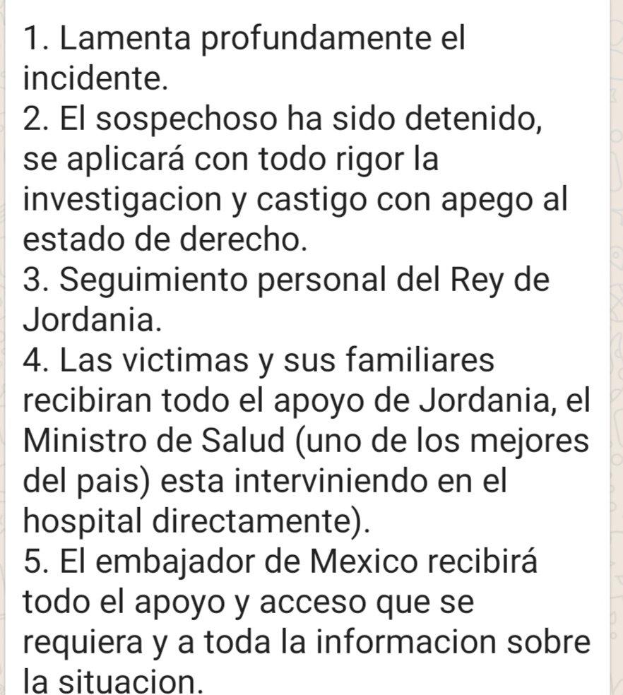 6/11/19 Jordania-turistas-mexicanos-heridos/ comunicado